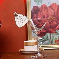 Hyaline & Dora corte láser tarjeta de copa de vino nombre tarjeta de lugar en forma de pájaro, ESCORT Copa tarjetas, tarjeta de asiento apto para decoraciones de boda fiesta de cumpleaños