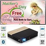 3D DLP Pico Bluetooth Projecteur Sans Fil 2000 Lumen Portable Présentation Entreprise Projecteur HD 1080 p 802.11 AC WiFi AirPlay IPad smartphone proyector intégré dans Batey pour l'éducation de CIN