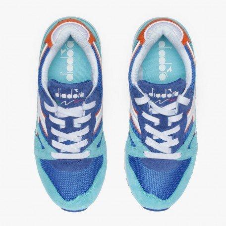 Diadora N9000 Jr, Sneaker Bas du Cou Mixte Enfant Bleu (Blu Principessa/azzurro Capri)