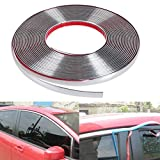 #6: GOLSM Car Side Window Door Beading Stylish Beading Roll Size 15mm Meter 10 Chrome for Honda City Type 4 (2009-2014)