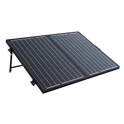ECO-WORTHY 12 Volt 120 Watt Tragbarer, faltbarer Monokristallines Solar-Koffer mit schwarzem - Koffer Solar