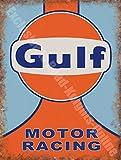 Gulf Course Automobile équipe Motorsport Garage Classic Métal/Panneau Mural Métalique - 30 x 40 cm