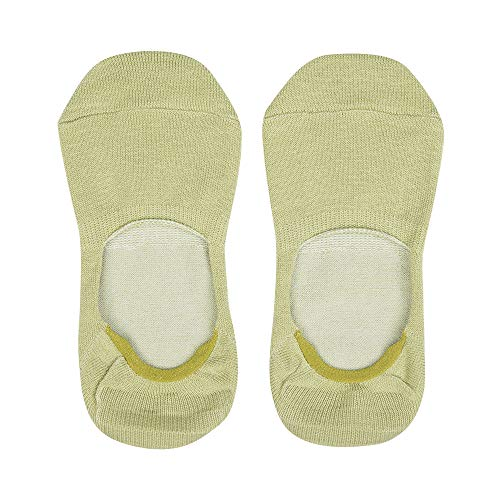 LilySilk Unsichtbare Sneaker Damen Seide Socken Innensocken aus Mischgewebe Grün