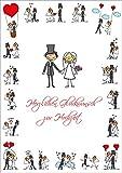 """""""LUSTIGE HOCHZEITSKARTE"""" A4 Glückwunschkarte Hochzeit im XXL / DIN A 4-Format (10686) mit Umschlag von EDITION COLIBRI © - umweltfreundlich, da klimaneutral gedruckt"""