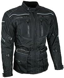 HEYBERRY Touren Motorrad Jacke Motorradjacke Textil schwarz Gr. XXL