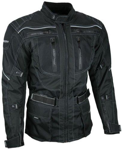 *Heyberry Touren Motorrad Jacke Motorradjacke Textil schwarz Gr. XXL*