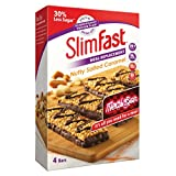 SlimFast Meal Replacement Bar Nutty Salted Caramel (4x Box of 4, Total 16 Bars)