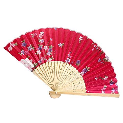 Andouy Retro Faltfächer/Handfächer/Papierfächer/Federfächer/Sandelholz Fan/Bambusfächer für Hochzeit, Party, - Braune Mäuse Kostüm