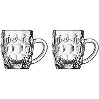 Arcoroc Britannia Set of 2 British Glass Beer Mug 10oz / 0.5 pint - 0293614