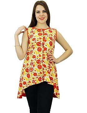 Phagun Diseñador floral de las mujeres del algodón Kurti Kurta étnico del vestido ocasional