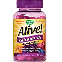 Alive Nature's Way Calcium + D3 Gummies 60's