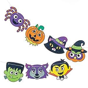 Baker Ross Bandierine a Tema Halloween da colorare (5 m per Confezione) per creazioni Fai da Te e Decorazioni di Halloween per Bambini