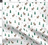 Weihnachten, Baum, Rentier, Schnee, Modisch Stoffe -