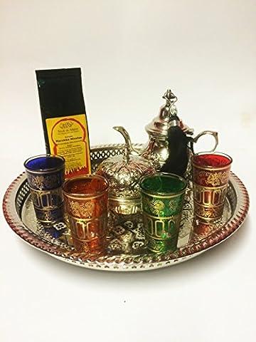 Marokkanischer Orientalischer Geschenk Tee Set Nadia Mittel