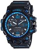 SKMEI Sports Multifunctional Dual Time Digital Blue Dial Men's Watch - SK1155C