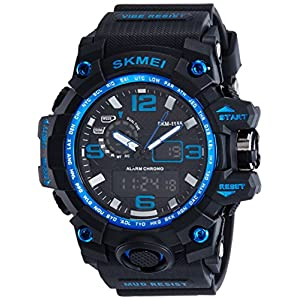 Skmei Analog-Digital Black Dial Men's Watch – 1155-Blue