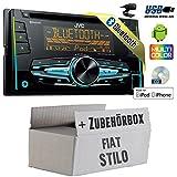FIAT Stilo - JVC KW-R920BT - 2DIN USB Bluetooth Autoradio - Einbauset