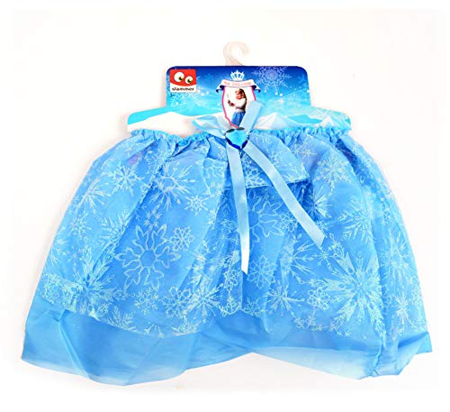 Nick and Ben Kinder Kleid Eisprinzessin Rock mit Eiskristall Tütü Glitzer Blau für Halloween Karneval und Fasching