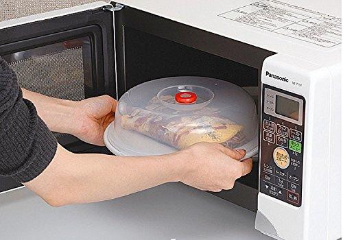 vinallo 22,9cm Mikrowelle Cover BPA-frei für Lebensmittel Schutz Hülle Große Schüssel Teller Topf klappbar Splatter mit Dampf (Mikrowellen-dampf-cover)