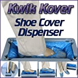 Easy Use Kwik Kover Disposable Shoe Cover Overshoe Dispenser with 50 FREE Disposable Shoe Covers for the Home, Hygiene Areas, Boats, Yachts, Food Production, Crime Scenes, Show Homes. So Easy to Use they will be Used by Kwik Kover