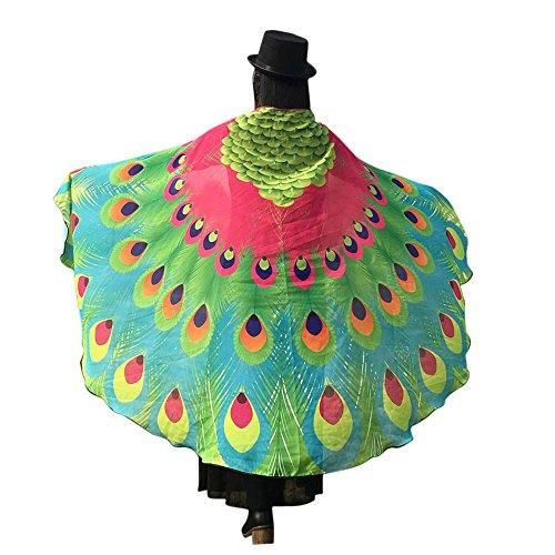 Xmiral Frauen Weiche Gewebe Schmetterlings Flügel Schal Damen Cosplay Weihnachten Cosplay Kostüm Zusatz(D-Rosa Rot)