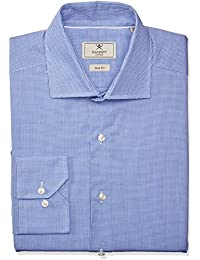 Camisa Ajustada Cuadro Vichy Hackett Mayfair Azul
