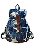 Douguyan Mode Retro Tasche Freizeitrucksack Reiserucksack Schulrucksack Daypack girls Backpack fashion Rucksack damen E00117 Denim Stern