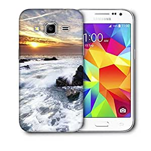 Snoogg Water Hitting The Stone Printed Protective Phone Back Case Cover For Samsung Galaxy Core Plus G3500