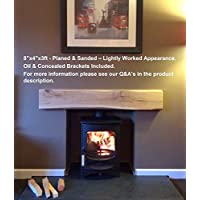 Celtic Timber - Solid French Oak Beam Floating Shelf Mantle Piece Fire Place Surround Inglenook - Finish: Planed & Sanded - Appearance: Lightly Worked