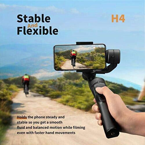 Dušial Smartphone Handheld Gimbal Stabilizer für Smartphone Automatische Verfolgung und Videoaufnahme für die Gesichtserkennung Telefonstabilisierungshalter für Handys Kamera, Anti-Shake Selfie Stick