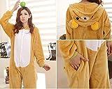 JT-Amigo Damen Herren Tier Kostüm Pyjama Jumpsuit Schlafanzug Overall, Bär Kostüm, Gr. M -