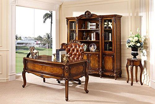 Ma Xiaoying Büro Schränke und Schreibtisch und Stuhl, Antike Möbel, Buche massiv Holz geschnitzt von Händen, europäischen Klassik, braun by MA Xiaoying