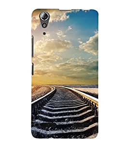 PrintVisa Journey Begins 3D Hard Polycarbonate Designer Back Case Cover for Lenovo A6000 Plus :: Lenovo A6000+ :: Lenovo A6000