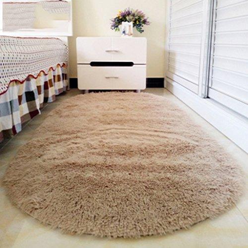 dreifarbig modernen Pastell Stil cute Soft oval massiven Home Mehrzweck-rutschfester Teppich für Wohnzimmer/Studie/Küche/Kinder Raum innen/OUT Tür Teppich 60* 160cm/80* 120cm/80* 160cm, I, 80*120cm (Indoor-teppiche Wolle Ovale)