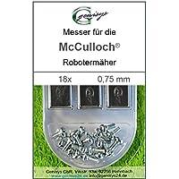 18Lame Lama di ricambio di alta qualità 0,75mm per McCulloch Rob R600R1000MC Culloch - Utensili elettrici da giardino - Confronta prezzi