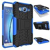 Qiaogle Telefono Case - Shock Proof TPU + PC Hibrida Stents Protettiva Case Cover per Samsung Galaxy ON5 / ON5 PRO/SM-G5500 (5.0 Pollici) - HH11 / Nero & Blu