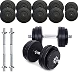 TNP Accessories® Dumbbell Weights Set 15KG / 20KG / 30KG / 40KG / 50KG Dumbbells Bar Set (40.0)