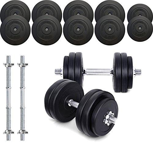 TNP Accessories® Dumbbell Weights Set 15KG / 20KG / 30KG / 40KG / 50KG Dumbbells Bar Set (20.0)