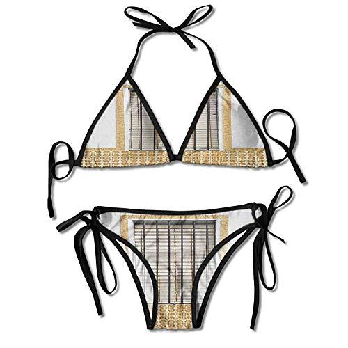 Hot Summer Women's Bikini,Window and Shutters with Sexy Bikini 2 Pieces -