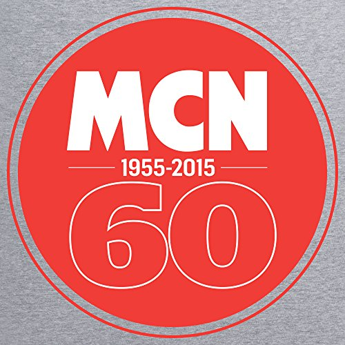 MCN 60th Anniversary T-Shirt, Herren Grau Meliert