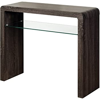 Homescapes Dakota Console Hall Table Drawers Dark
