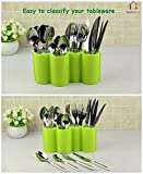 DEALBOX Plastic Kitchen Utensil Holder Dinnerware Rack Tableware Organizer Boxes Spoon Rest Fork Stand Knife Box - Random Color