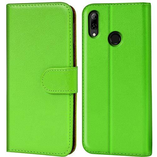 Verco P Smart 2019 Hülle, Handyhülle für Huawei P Smart 2019 Tasche PU Leder Flip Case Brieftasche [6,2 Zoll] - Grün