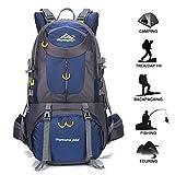 Gohyo Mochila de Viaje 50L Senderismo Ligera Impermeable para Marcha Trekking Camping Montaña Escalada Dark Blue