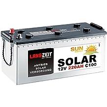 Solarbatterie 220Ah 12V Wohnmobil Boot Wohnwagen Camping Schiff Batterie Solar 180Ah