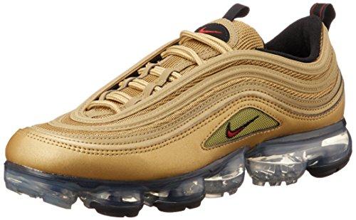 Nike Air Vapormax 97 Schuhe Sneaker Neu (EU 45 US 11 UK 10, Metallic Gold/Varsity Red) (Nike Sport Plus Sehen)