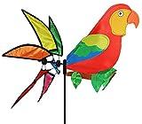 XL Windrad / Windspiel - ' Vogel Papagei - Ara ' - mit Spieß 144 cm - auch als Windrichtungsanzeiger - wetterfest & wasserfest - UV beständig - Windmühle Windräder - für Außen Windspiele Vögel bunter Papageienvogel Paradiesvogel - Tierfigur