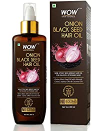 WOW Skin Science Onion Oil - Black Seed Onion Hair Oil - Controls Hair Fall - No Mineral Oil, Silicones &