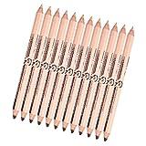Sharplace 2 in 1 Eyeliner Bleistift und Augenbrauenstift Augenbraue Concealer Pen Augen Konturenstift - #3: Braun + Hell Hautfarbe