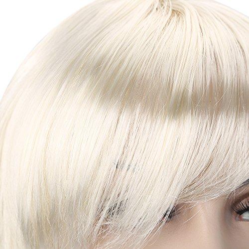 Lange Rolle des Mädchens große Welle - weiße Perücke, benutzt für Fenstermodell Cosplay Halloween-Maskerade für Festival Cosplay Halloween Kostüm ()